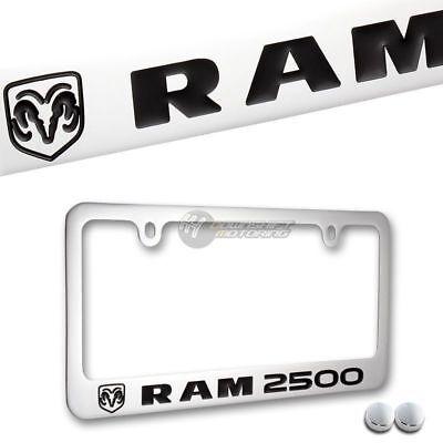 Ram Black Metal License Plate Frame