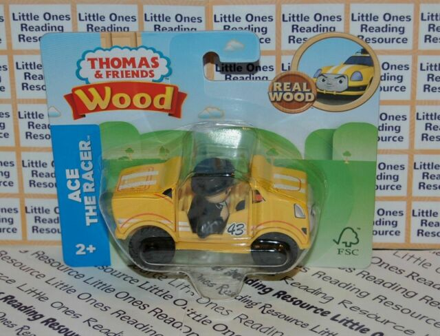 Thomas Friends Wood Wooden ACE THE RACER Train Car Fisher Price GGG75
