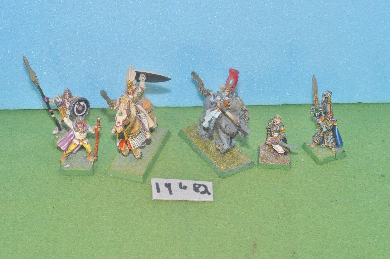 Item fantasy   warhammer - high elf 6 command squad wizard 1 plastic - (19482)