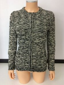10 Isabel Marant Black Taglia Uk 38 Cardigan vOwqB