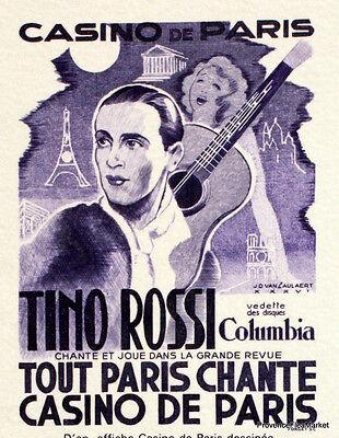 Fein Tino Rossi Frankreich Philatelistische Dokument Offiziell 2390 Europa