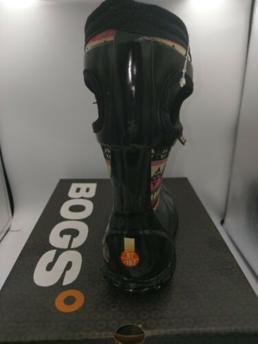 Bogs Girl/'s North Hampton Pattern Stripes Waterproof Rain Boots