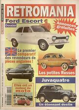 RETROMANIA 55 LES POPULAIRES RUSSES  RENAULT JUVAQUATRE FORD ESCORT 1968 1974