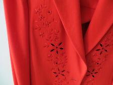Lujo Couture Escada blazer flores bordadas punta rojo 38/40 np980, - Golf Club