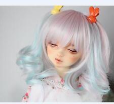 Bjd Doll Wig 1/3 8-9 Dal Pullip AOD DZ AE SD DOD LUTS Dollfie blue pink Toy Hair