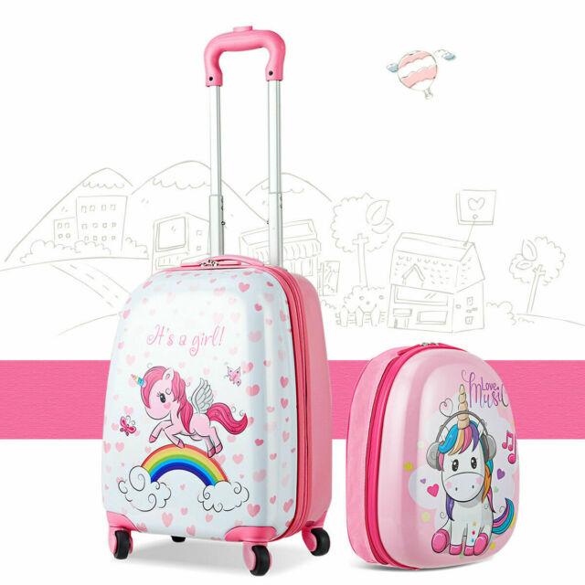 Rockland 2 Pc Polycarbonate//abs Upright Luggage Set