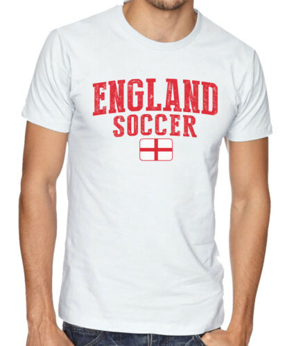 England Team Soccer T-shirt Adults Men/'s Soccer Jersey 100/% cotton Any Sports