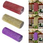 "4.6"" 1 Yard Diamond Mesh Wrap Roll Sparkle Rhinestone Ribbon Wedding Party Decor"