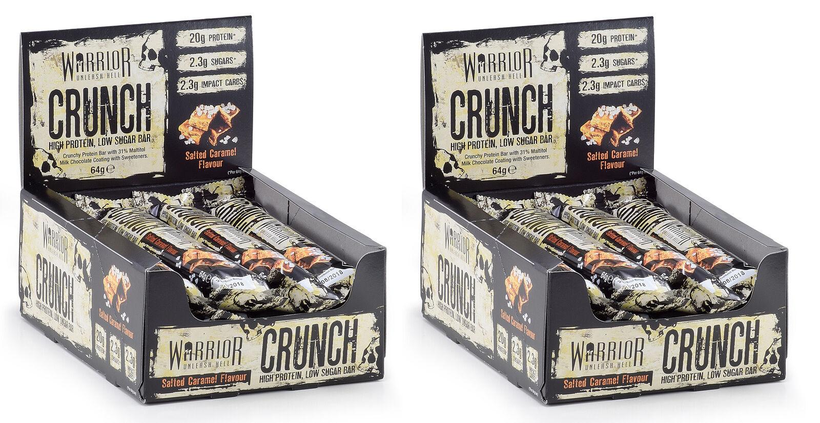 Warrior Crunch barras de Alta Proteína Niedrig Carb x 12 POR CAJA CARAMELO SALADO X