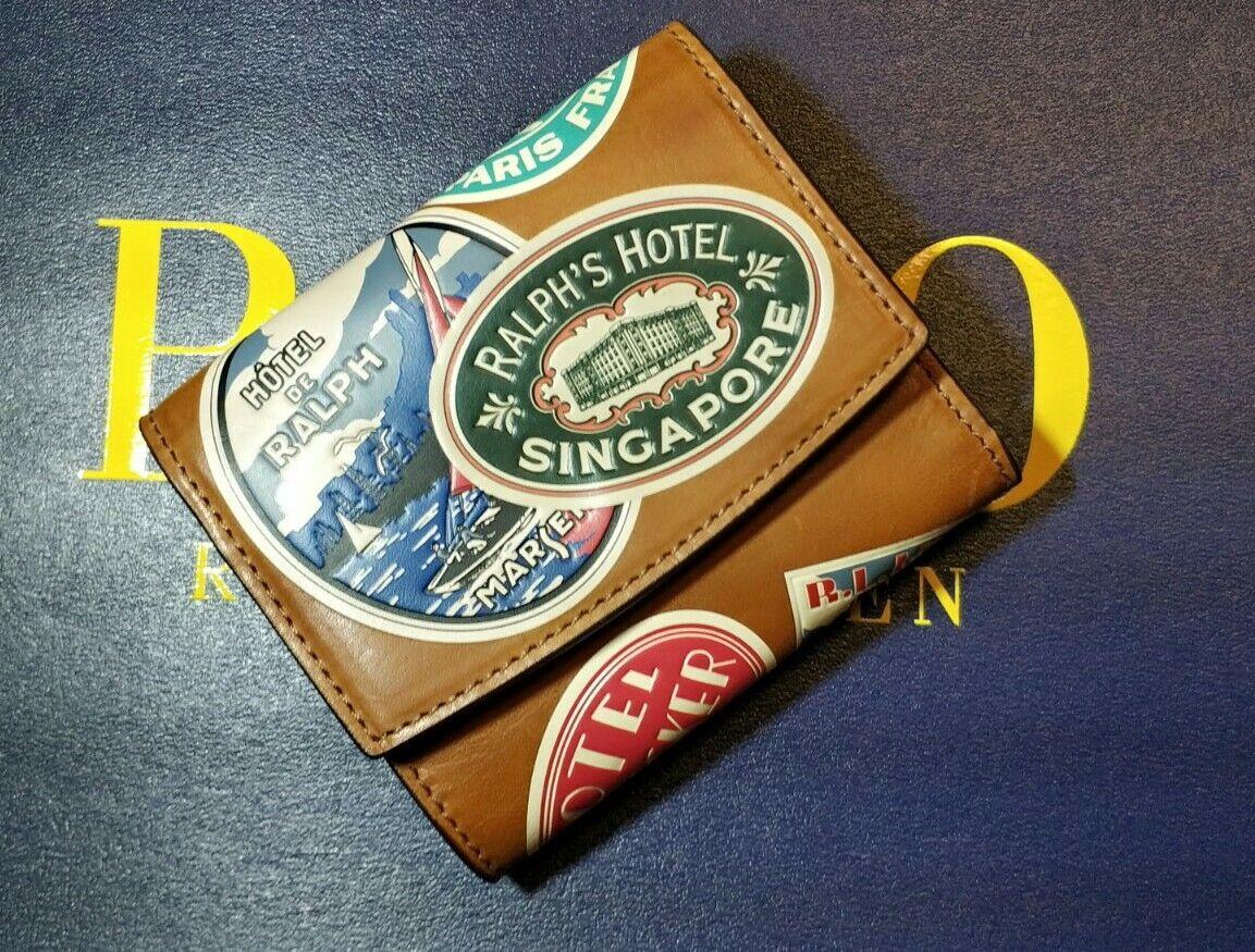 Polo ralph lauren leather tan wallet