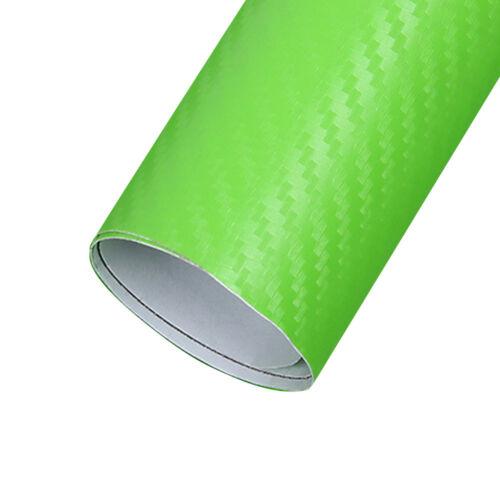 3D Gloss Carbon Fiber Vinyl Sticker Wrap Decal Sheet Bubble Free Film 10Color 66
