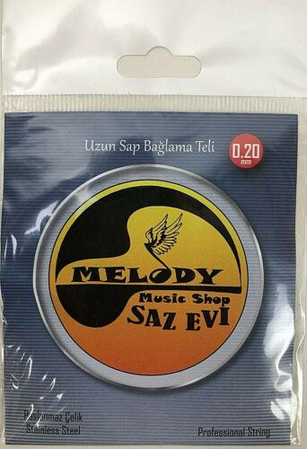 SAZ TELI   Uzun kol     Saz Saiten 0.20 Lang hals  ✅  Melody Saz Evi