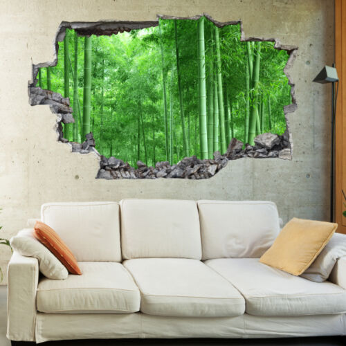 Forest Trees Nature Landscape 3D Art Wall Mural Photo Wallpaper Wall Stickers