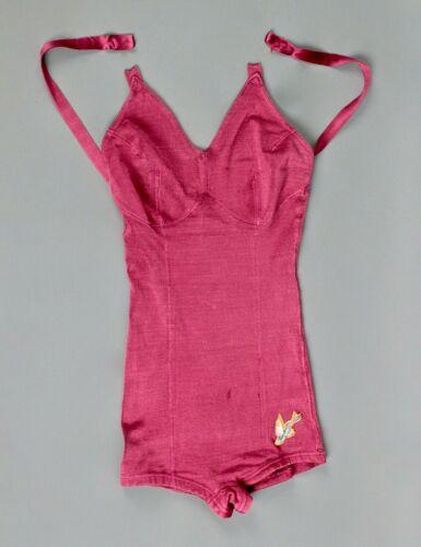 VTG Women's 30s 40s Dark Pink Catalina One Piece S