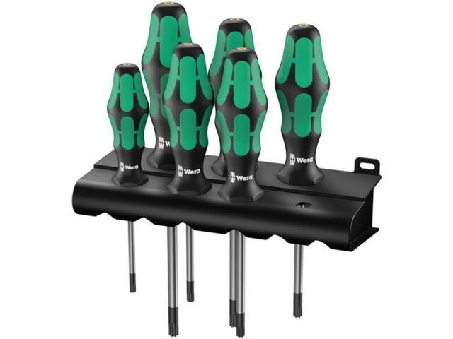 Wera 367/6 TORX® BO Kraftform Plus TORX® BO-Schraubendrehersatz + Rack, 6-teilig