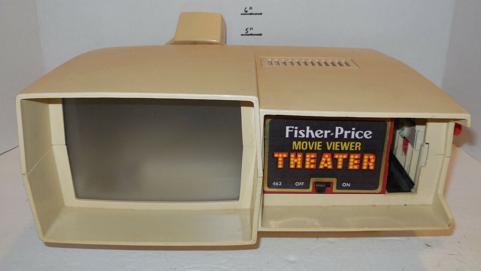 Vintage 1977 Fisher Price Movie Viewer Theater Tested Works Rare VHTF
