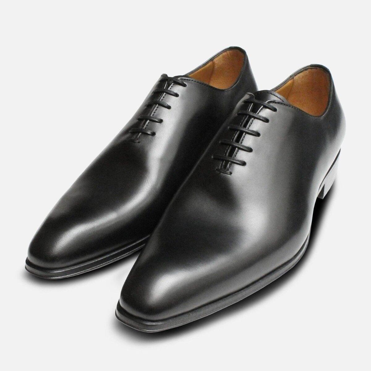 Noir Wholecut Chaussure Oxford Hommes Chaussures