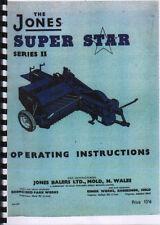 "Jones ""Super Star Series II"" Tractor Baler Operator Instruction Manual Book"