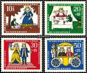 BRD-BR-Deutschland-523-526-kompl-Ausgabe-gestempelt-1966-Wohlfahrtsmarken