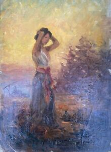 Young-faru-in-the-evening-sun-SKETCH-STUDY-49-x-35-cm-Anonymous-Oil-Paintings