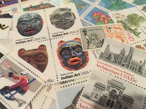 30-MNH-All-Different-15-cent-stamps