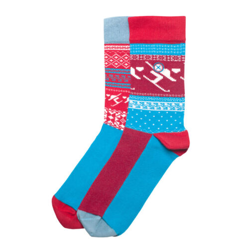 Perfect Christmas stocking filler RRP £10 style Skier ODSX Cotton rich socks