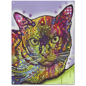 Burmese Cat Dean Russo Pop Art Metal Sign Pet Steel Wall Decor 12 x 16