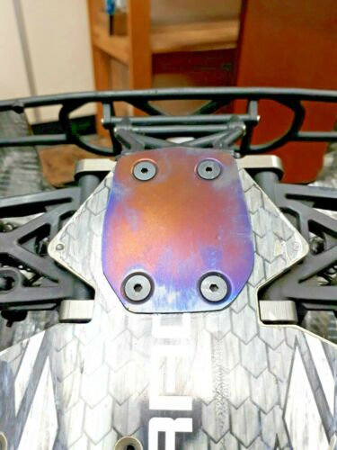 Losi TLR 1//10 RC TEN SCTE SCBE 8IGHT TEN-T 810 Titanium Rear Skid Plate