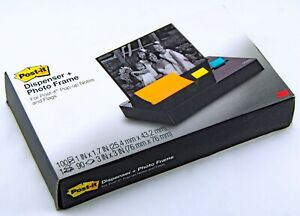 """3M Post-it Dispenser Plus + Photo Frame Pop-up 3""""x3"""" Notes Dispenser Weighted"""