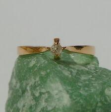 Magnifique Anneau Rose Bague pour femme 56 17,8 mm ø 333/8k Doré avec Diamant