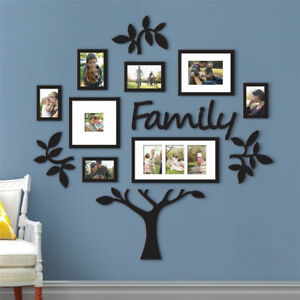 Family Tree Frame Collage Pictures Collage Photo Wall Mount Decor
