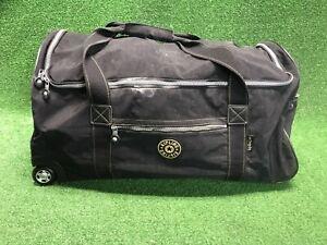"""Kipling Black Nylon Expandable 29"""" Rolling Wheeled Luggage Suitcase Travel"""
