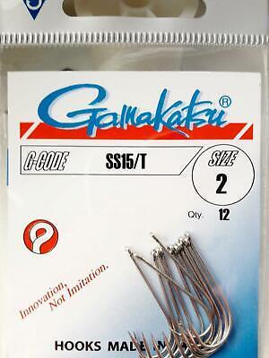 Gamakatsu SS15//T Größe #4 salzwasserbeständig 12 Haken Gamakatsu SS15//T #4
