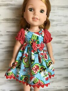 """14.5/"""" Doll Dress fits 14.5 inch American Girl Wellie Wishers Doll Clothes 202abc"""