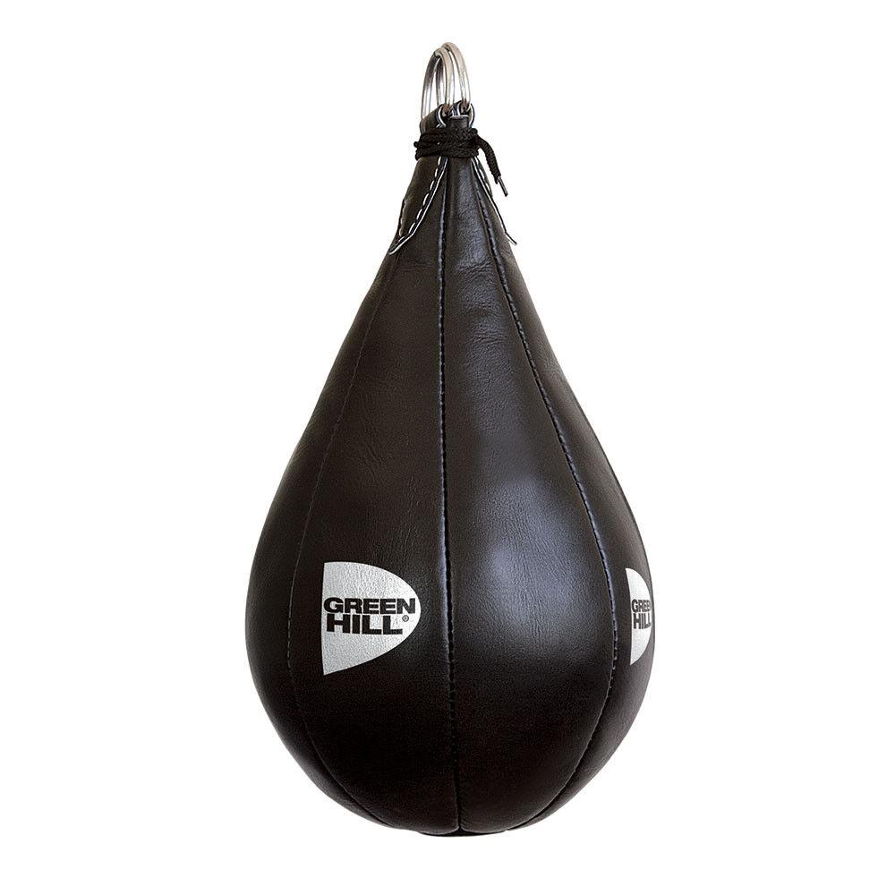 PERA ausgesetzt 2kg SPEED BALL Boxen Boxen Grün HILL echtes Leder MAIZE BAG