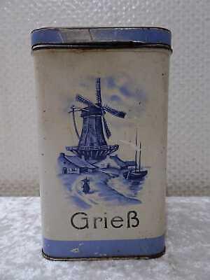 Antike Blech Vorratsdose für Grieß Vintage um 1900 Windmühle Segelboot | eBay