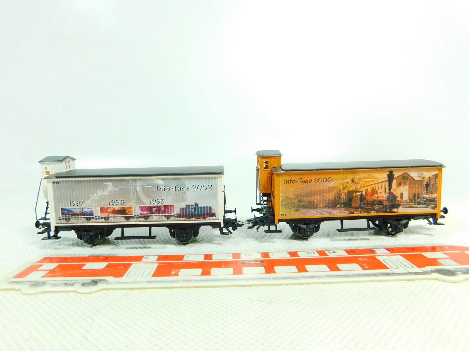 BS863-0,5    2x Märklin H0 AC Güterwagen  Info-Tage 2000 2002 NEM KK sehr gut    Hochwertige Produkte  8b6a65