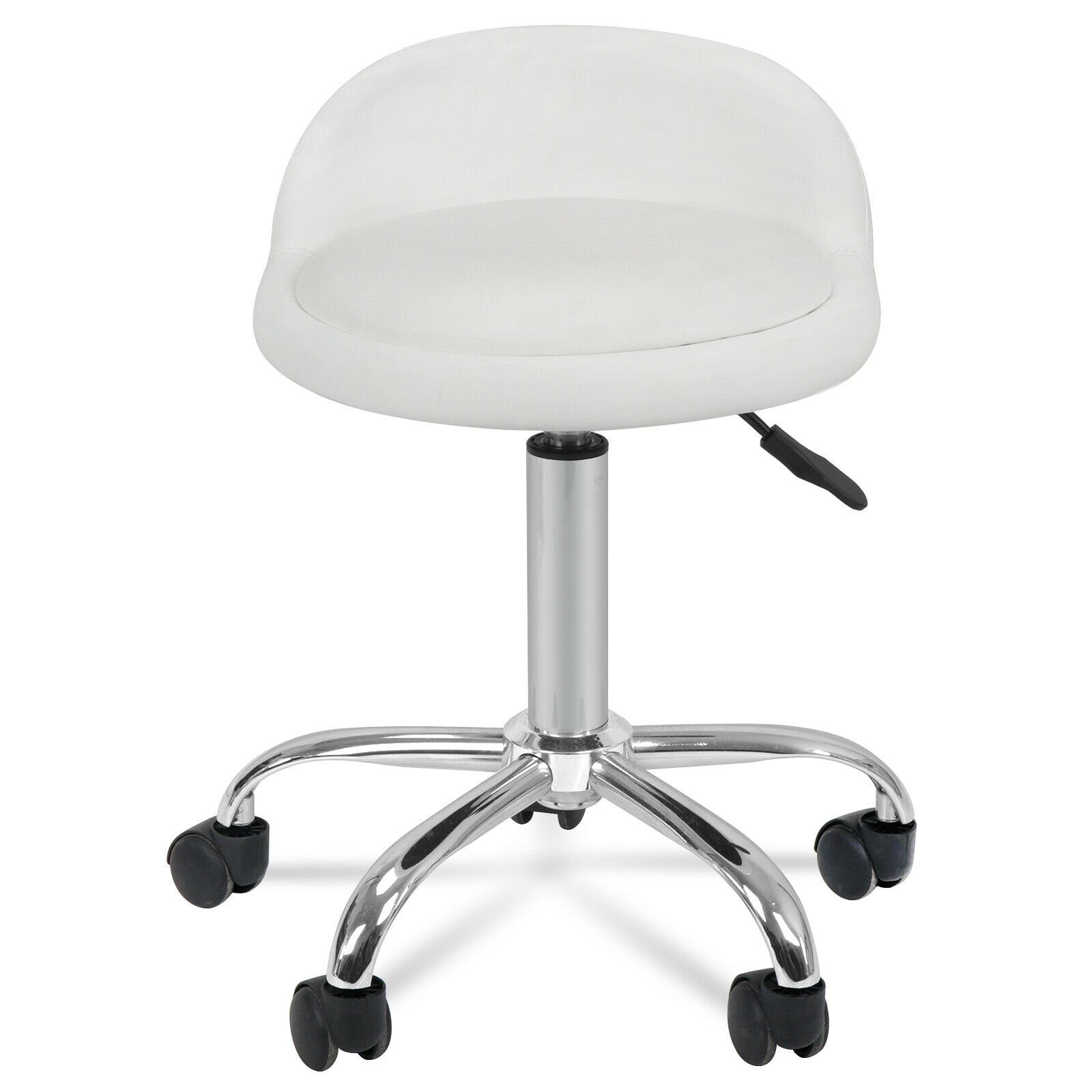 Spa Salon Stool with Back Rest Hydraulic Adjustable Height 5