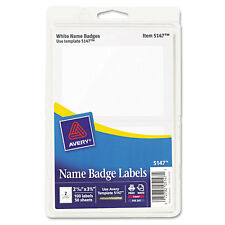 avery 8395 adhesive white flexible name badges 160 tags size 2 1 3 x
