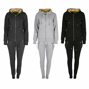418c1a463919 Image is loading Tracksuit-Ladies-Womens-Loungewear-Set-Joggers-Sweatshirt- Pants-