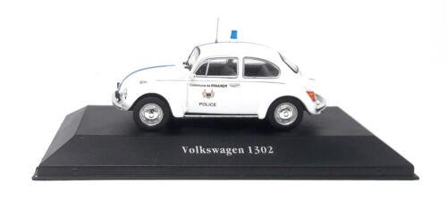 Atlas DieCast Metall Modellauto 1:43 VW Volkswagen Käfer 1302 Polizei Belgien