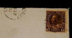 Vintage Cover,CANADA POSTAL HISTORY,1921, KING GEORGE V, Postmarked Gore Bay, ON