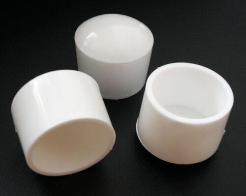 4 x Fußkappen Ø 12,5-13,5mm Weiß rund Kappe  Rohr-kappe Gartenstuhl Stuhlkappe
