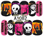 Nail-Art-Stickers-Transfers-Decals-Halloween-Ghosts-Bats-Pumpkins-Skulls-Blood miniatuur 5