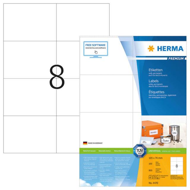 800 Herma Etiquetas 4470 Blanco