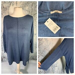 Ladies-Blue-Jumper-Top-Size-18-GEORGE-Long-Sleeve-Fine-Lightweight-NEW-NWT-Smart