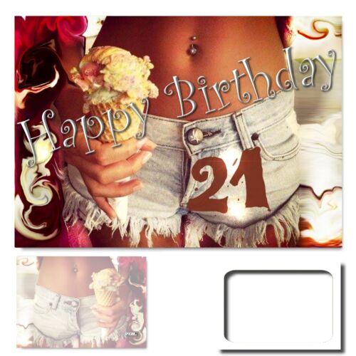 Geburtstag Grußkarte XXL Glückwunschkarte Geburtstagskarten #004 DigitalOase 21