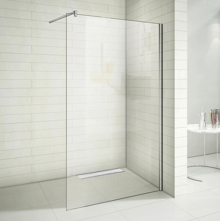 Walk in Dusche Duschabtrennung 8mm Nano Duschkabine Duschrinne ...