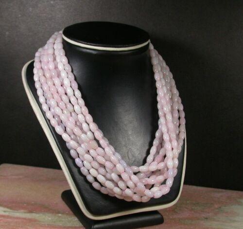 1pcs Lavande 100/% naturelle un JADE JADEITE bead Perles Collier 21 in environ 53.34 cm 387274
