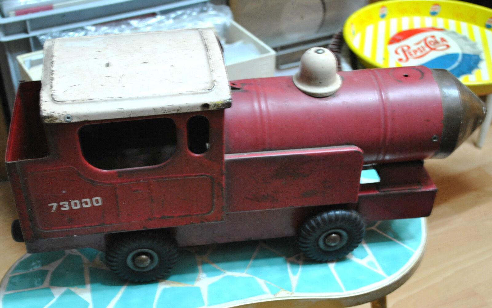 40er Original Locomotora Metal Rojo artículo de coleccionista RAREZA Locomotora Hecho en Reino Unido
